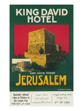 Poster for King David Hotel, Jerusalem Posters