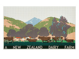 New Zealand Dairy Farm Poster Stampe