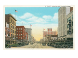 O Street, Lincoln, Nebraska Prints