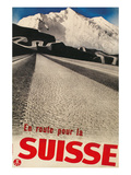 Swiss Travel Poster, Road to Alps Posters