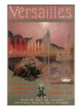 Travel Poster for Versailles Art