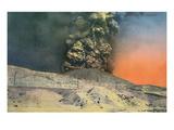 Vesuvius Erupting, Naples, Italy Print