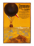 Poster with Balloon over the Alps Prints