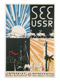 Travel Poster for USSR Art