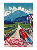Poster for St. Moritz Car Show Prints