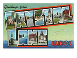 Greetings from Crystal Lake, Illinois Affiches