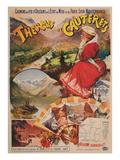 Vintage Travel Poster for Cauterets, France Prints