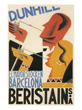 Spanish Poster with Smokers Print