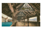 Chapel Bridge, Lucerne, Switzerland Print