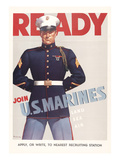 Ready, Marine Corps Recruiting Poster Posters