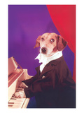 Dog Playing Piano Prints