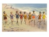 Greetings from Cape May, New Jersey, Bathing Beauties Posters