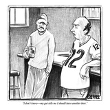 """I don't know—my gut tells me I should have another beer."" - New Yorker Cartoon Premium Giclee Print by Matthew Diffee"