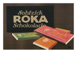 Ad for Sobfzick Roka Chocolate Affischer