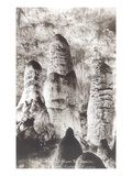 Twin Domes, Giant Stalagmites, Carlsbad Caverns, New Mexico Prints