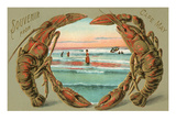 Souvenir from Cape May, New Jersey, Lobsters Posters
