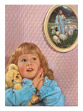 Little Girl Praying by Jesus Picture Posters
