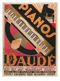 Top View of Piano Keyboard Posters