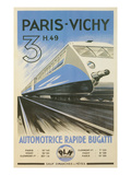 Paris to Vichy Train Poster Poster