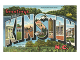 Greetings from Kinston, North Carolina Prints