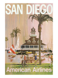 Travel Poster for San Diego, California Art