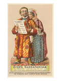 Oldsters Touting Sarsaparilla Prints