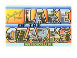 Greetings from Lake of the Ozarks, Missouri Posters