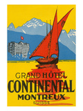Travel Poster, Montreux, Switzerland Print