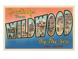 Greetings from Wildwood By-The-Sea, New Jersey Print