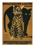 Leopard and Panther, Munich Zoo Poster
