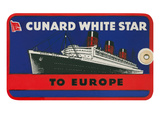 Cunard White Star, Trunk Label Print