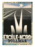 Poster for European Railways, Tracks - Reprodüksiyon