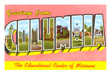 Greetings from Columbia, Missouri Print