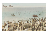 Early Beach Scene, Cape May, New Jersey Posters