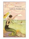 Greetings from Santa Barbara Kunstdrucke