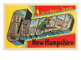 Greetings from Concord, New Hampshire Art