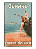 Vintage Travel Poster for Cunard Line Posters