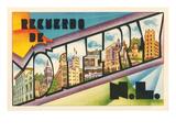 Recuerdo De Monterrey, N.L., Mexico Posters