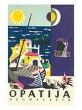 Travel Poster for Opatija, Yugoslavia Obrazy