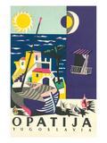Travel Poster for Opatija, Yugoslavia Obrazy