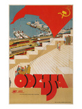 Travel Poster for Odessa, USSR Prints