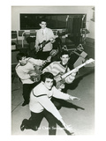 Fifties French Rock'N' Roll Band Prints