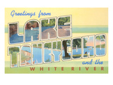 Greetings from Lake Taneycomo, Missouri Poster