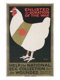 World War I Poster for Egg Collection Affiche