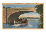 Aquedocton Bridge, Lake Winnipesaukee, New Hampshire Poster