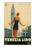 Travel Poster for the Lido, Venice, Italy Prints