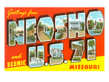 Greetings from Neosho, US 71, Missouri Print