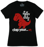 Juniors: Sad T-Rex Shirt