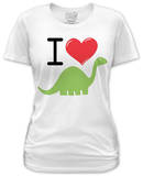 Juniors: I Heart Dino Shirt