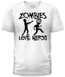 Zombies Love Nerds (slim fit) Camisetas
